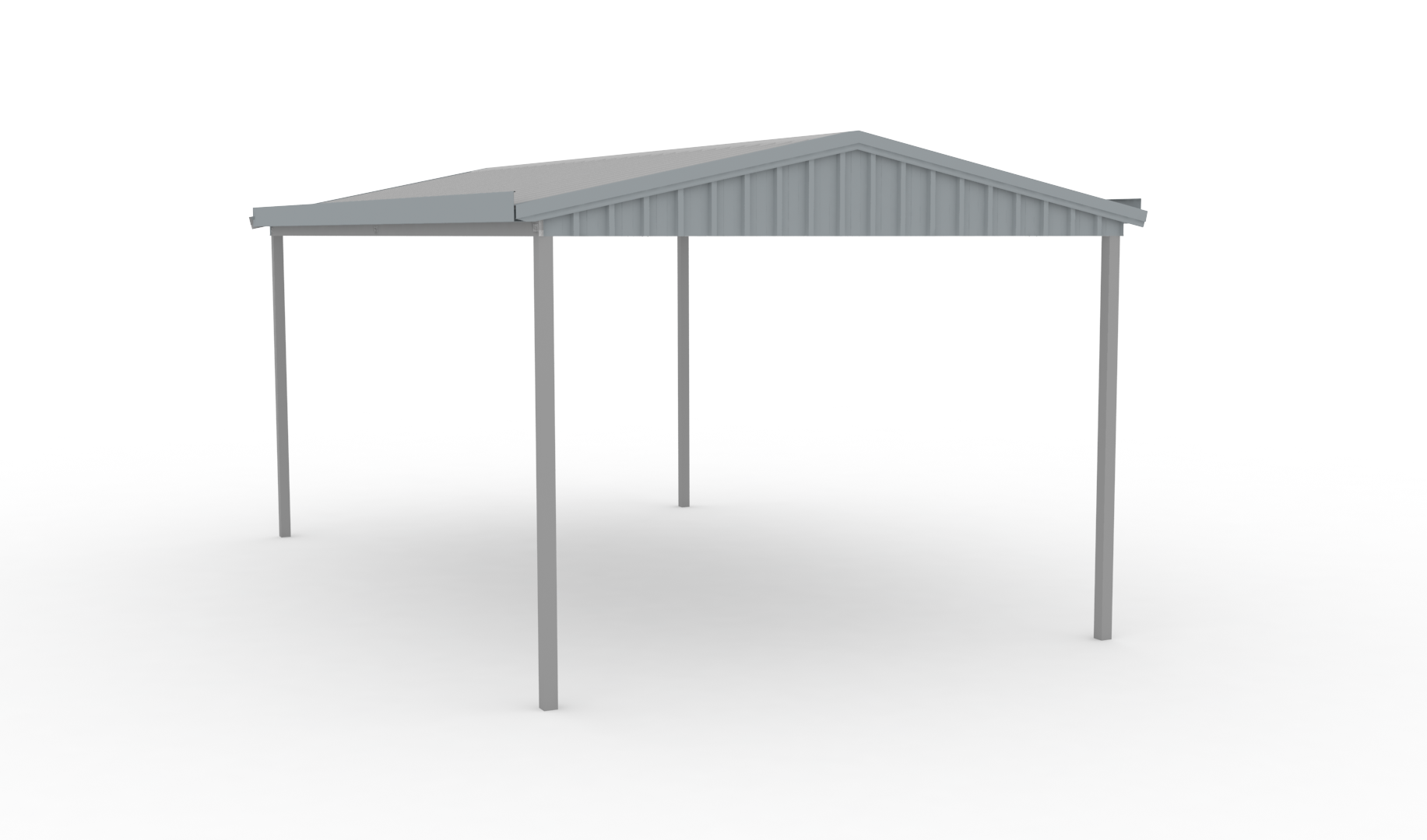 3 6x6x2 4 Gable Carport Mecano Sheds And Kit Homes