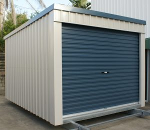 Roller Door Shed on Skids