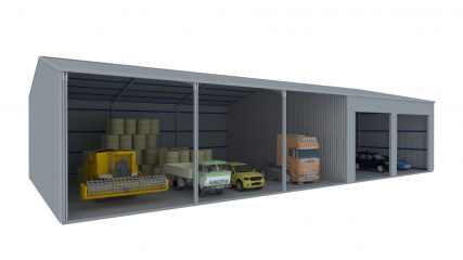 Open Front shed - Closed Bays - 002