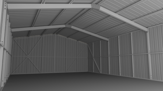 Stud Frame Shed Internal