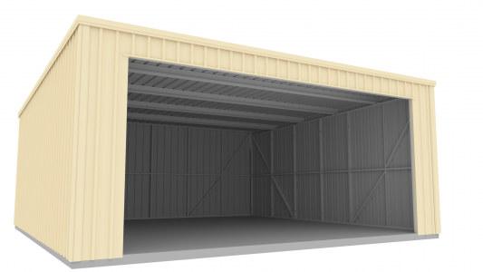 Shed with Double Roller door