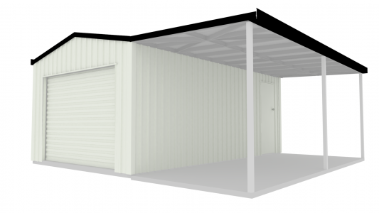 Shed With Lean-to